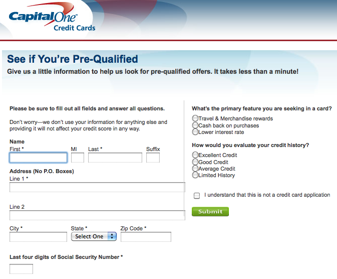 Pre Qualified The Truth About Credit Cards Com