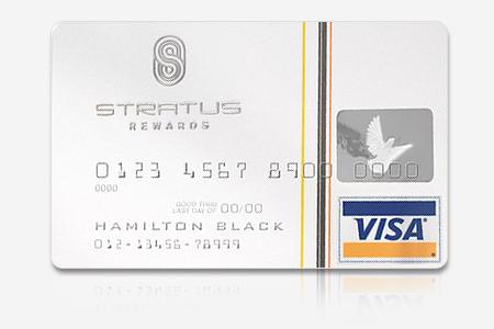 stratus white card