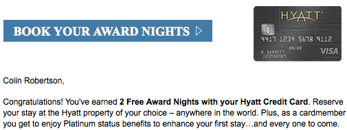 hyatt 2 free nights