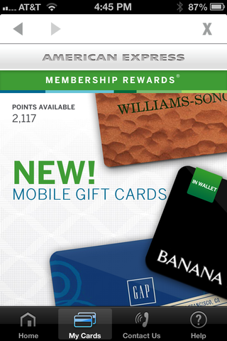 amex mobile gift card