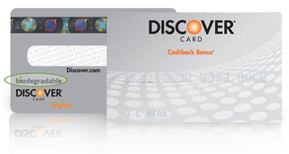 Biodegradable Discover Card