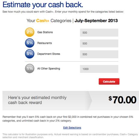 sample cash plus