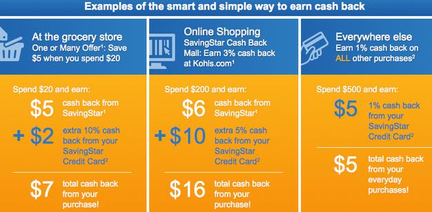 SavingStar cash back