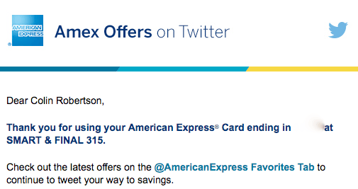 amex offer confirm