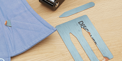 Collar Stay Punch Puts Your Old Credit Cards to Good Use