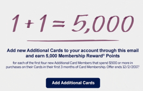 Amex PRG special