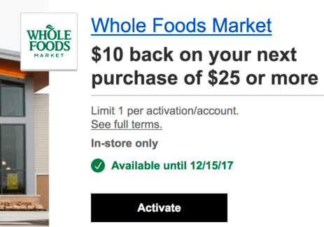 Chase Whole Foods