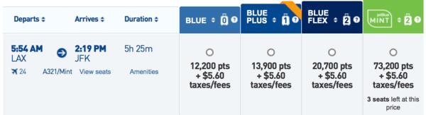 JetBlue fares
